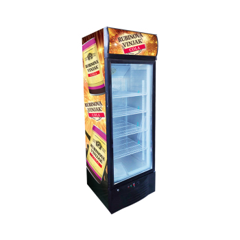 Meisda SC218B 240 Can 7.7 cu.ft Free-Standing Upright Display Refrigerator 21.9""