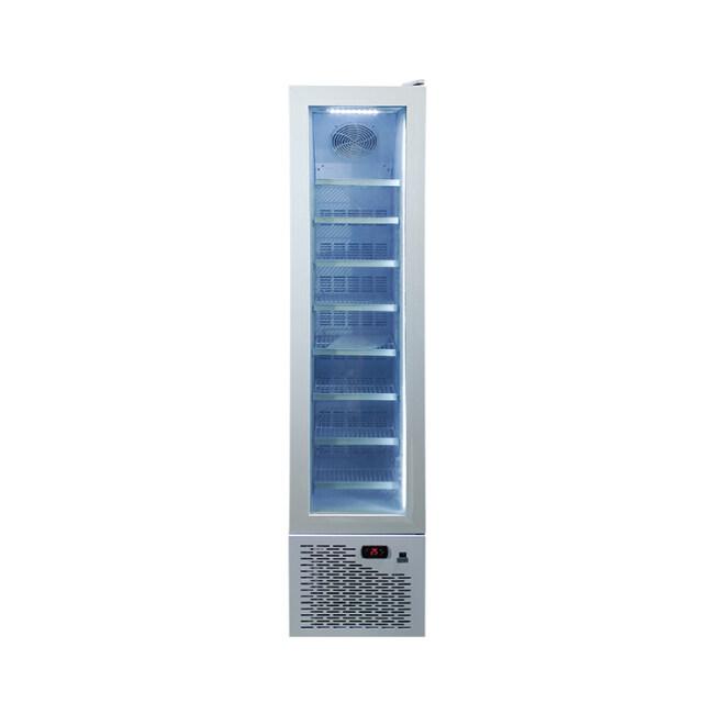 "Meisda SD105 3.8 cu.ft Slimline Upright Display Freezer with Top Branded Display 16.5"""