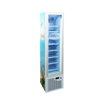 Meisda SD105 3.8 cu.ft Slimline Upright Display Freezer with Top Branded Display 16.5""