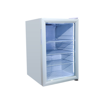 Meisda White SC68 65 Can 2.4 cu.ft  Mini Bar Fridge with Swing Door 17.1 ""