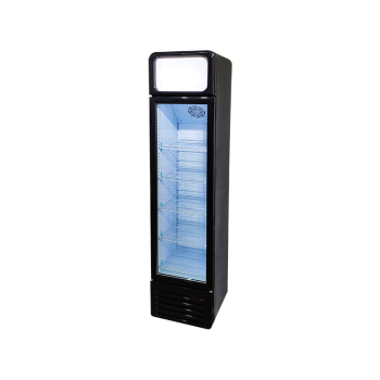 Meisda SC135BG 140 Can 4.8 cu.ft Upright Cooler with Round Corner and Lamp box 16.5""