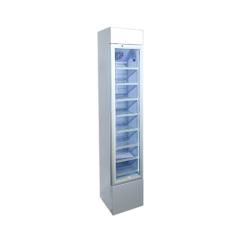 Taste Nirvana SC105B 120 Can 3.7 cu.ft Upright Display Cooler with Iconic Brand Design 14.2""