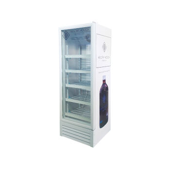 """Meisda SC235L 240 Can 8.3 cu.ft Grocery Shop Upright Showcase with HD 3-Side Sticker 21"""""""