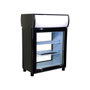 """Meisda Black SC35B 30 Can 1.2 cu.ft  Display Refrigerator with Front and Rear Double Door 19"""""""