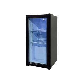 "Meisda Black SC40 42 Can 1.4 cu.ft. Bar Fridge with Clear Glass Door 13.7"""