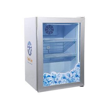 """Meisda SD98 3.5 cu.ft Stainless Steel Countertop Freezer with Swing Tempered Door 23.4"""""""