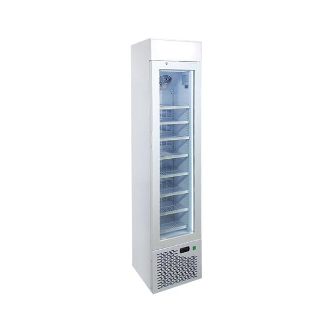 "Meisda SD105B 3.8 cu.ft Upright Freezing Merchandiser with Iconic Slimline Design 16.5"""