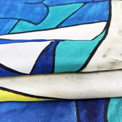 Custom Printed Twill Silk Fabrics