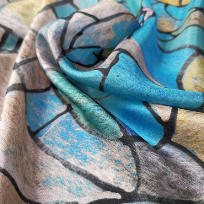 Custom Printed Silk Habotai