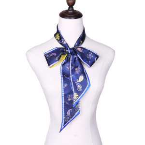 Ladies Twill Silk Printing Neck Skinny Scarf