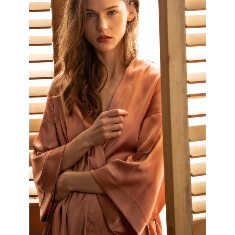 Long Sleeve Women Sexy Mulbury Silk Satin Robes