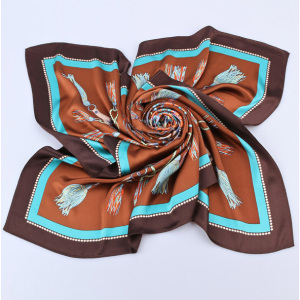 Wholesale Printing 16mm Silk Satin Head Scarf Wraps