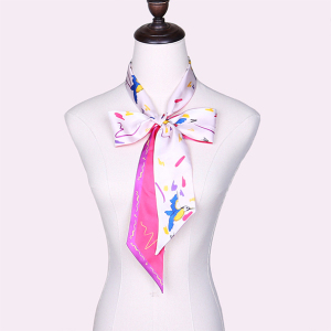Colorful Long Multifunctional Silk Skinny Scarf