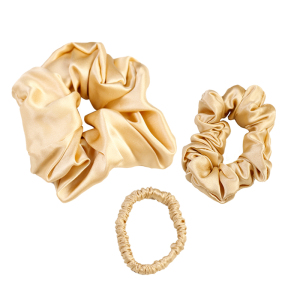 Hair Accessories Luxury 100% Mulberry Silk Hair Ties Elastic Silk Scrunchies Set