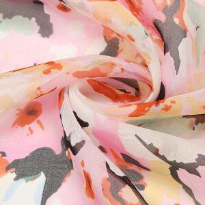 Floral Printed Silk Chiffon Fabric