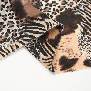 Custom Leopard Printed Silk Brocade Fabric