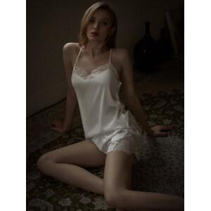 Girls Sleeveless Cross Back Silk Pijama