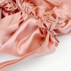 Pink Real Silk Satin Bonnet