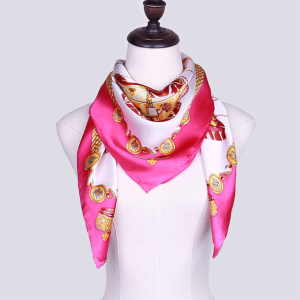 Wholesale 100% Silk Printing 90*90cm Large Square Scarf