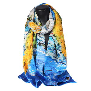 Luxurious Women Fashion Design Silk Satin Scarf