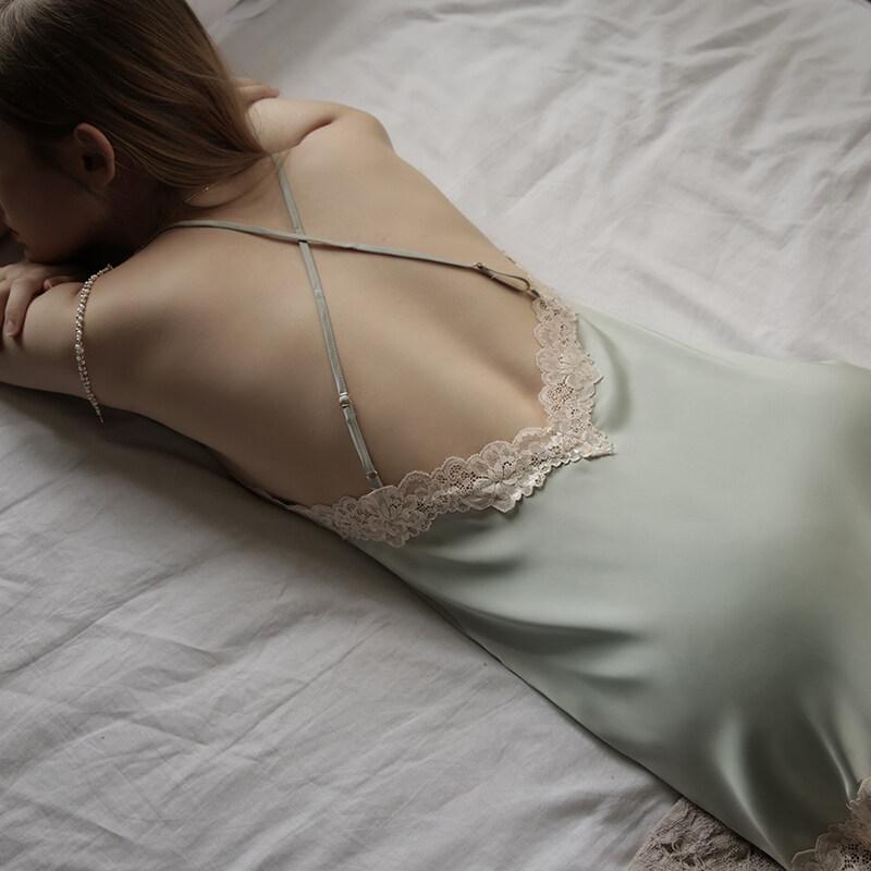 One Piece Pajamas Women's Silk Sleepwear