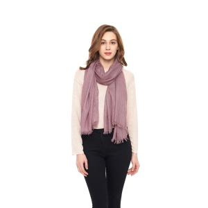 Solid Color 30% Viscose 70% Polyester Shawl Winter Scarf