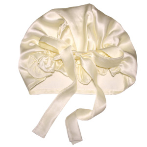 Wholesale Silk Hair Turban Bonnet For Sleeping With Ribbons