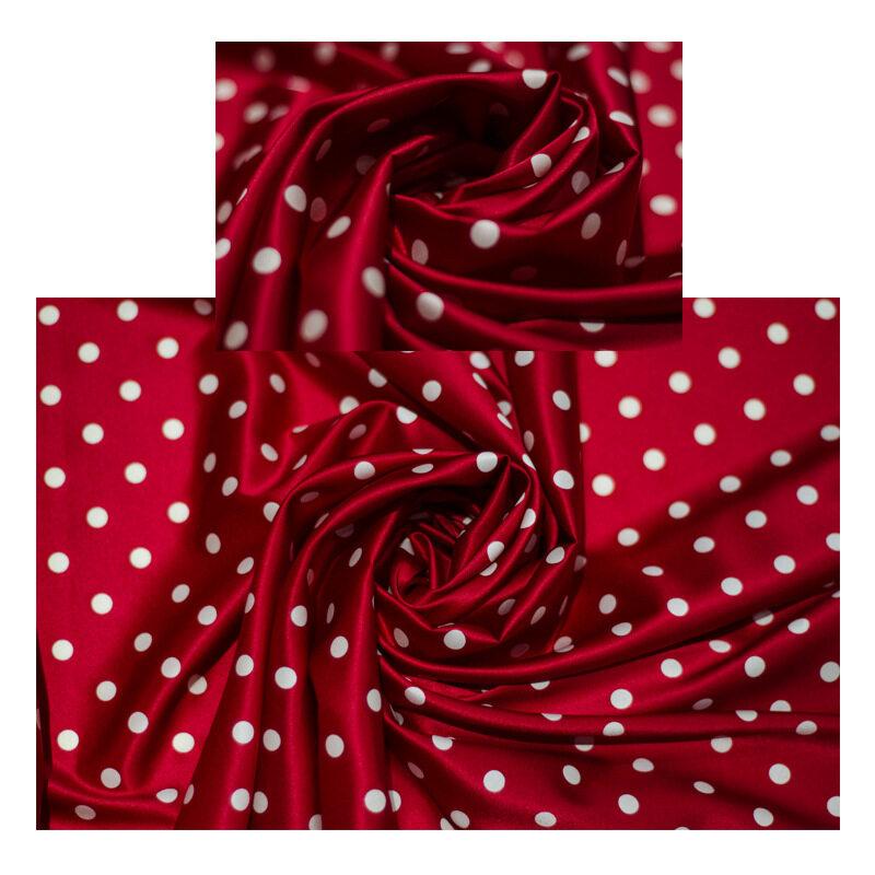 Polka Dots Print Silk Charmeuse Stretch Fabric