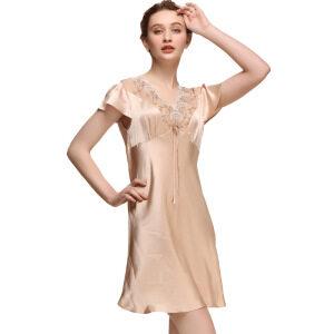 Women Short 100% Silk Nightgowns