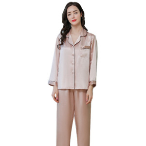 Wholesale Women Night Clothes Sexy Sleepwear Satin Silk Nightclothes Women's Pajama Set