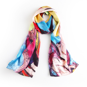12mm 100% Pure Silk Charmeuse Ladies Long Scarf