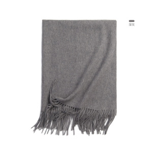 Winter Unisex Men Women Solid Pure 100% Wool Scarf