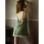 Lace Embroidery 100% Mulbery Silk Sleepwear