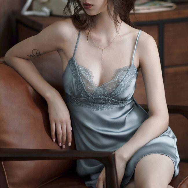 Sexy Woman 100% Silk Night Dress