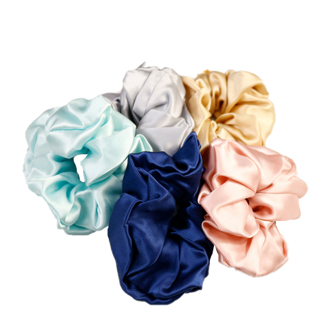 Oversized Hair Satin Silk Scrunchies