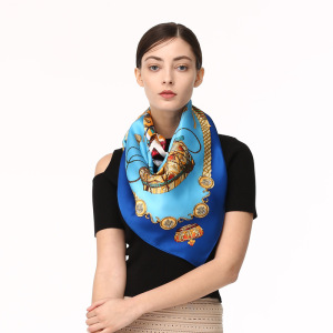 Wholesale Square Satin Silk Head Scarves