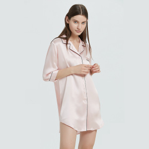 Wholesale Custom Sleepwear Half Sleeves Women 100% Mulberry Silk Kimono Robes
