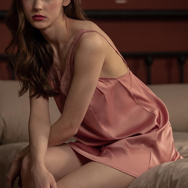 100% Silk Satin Night Dresses For Woman