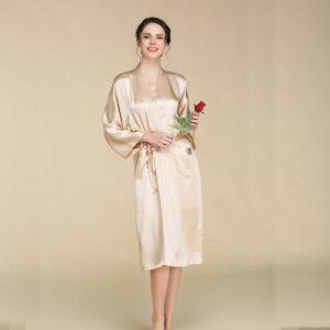 Hot Selling Comfortable Women Pure Silk Bath Robe