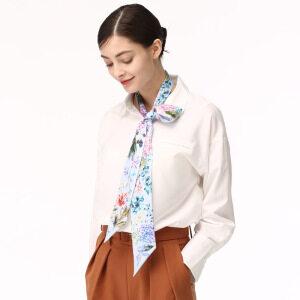 Women Narrow Long Neck Hair Scarf for Bag