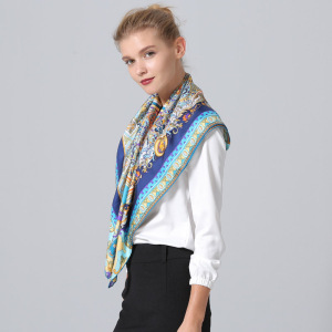 Women Hand Rolled Twill Scarf For Ladies