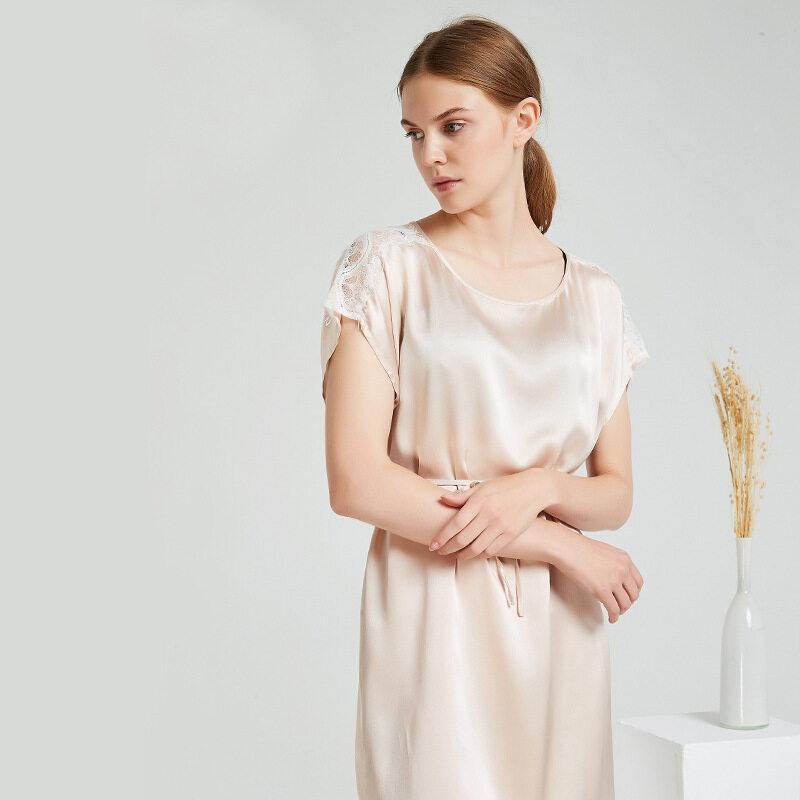 Wholesale Women Silk Satin Robes Sleeping Nightgown