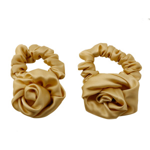Wholesale Fashion Elastic Hair Band Hair Women Korea Rose Silk Scrunchies Hair Ties