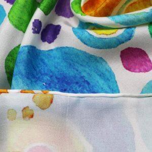 Custom Digital Printed Silk Habotai Fabric