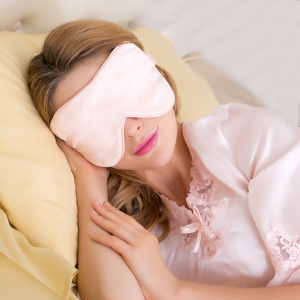 100% Natural Mulberry Silk Eye Shade Cover Super Smooth Night Blindfold for Sleeping