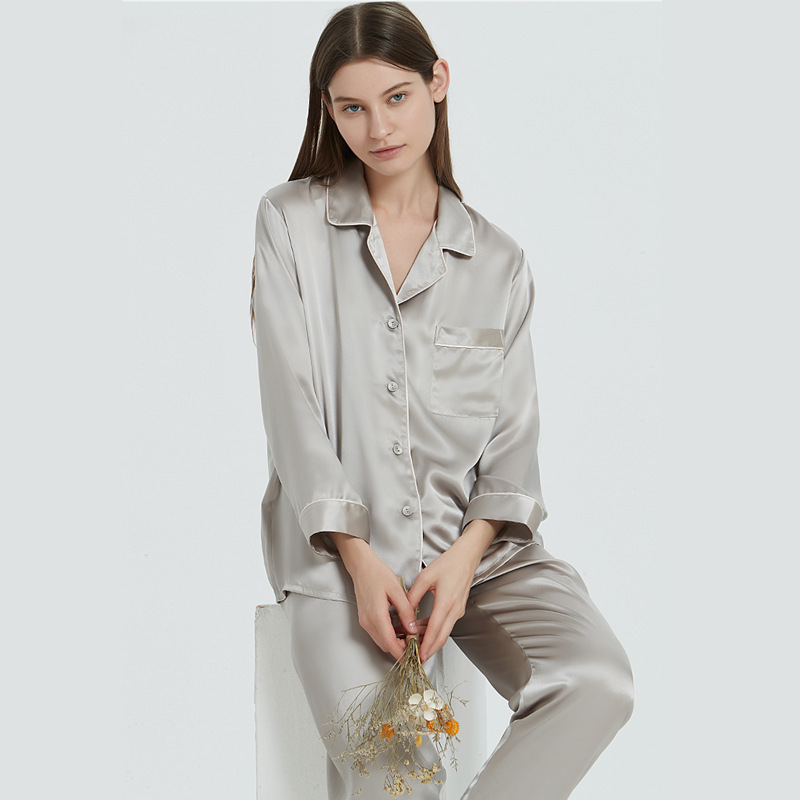 Multi-colors Women Pure Silk Pajama Set