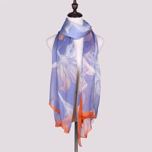 Low Minimum Bulk Printed 100 Silk Chiffon Scarves Shawls