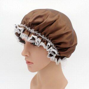 Lace Design Silk Sleep Cap For Curly Hair