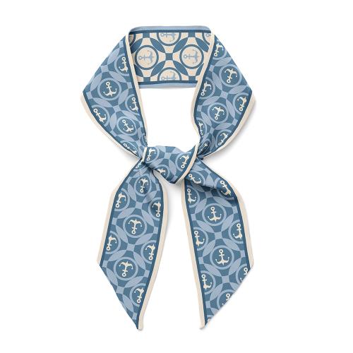 Voyage Design 16 Momme Silk Twill Ribbon Scarf