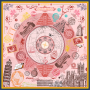 """Global Travels"" Double-sided Printing 19 Momme Silk Twill Scarf"